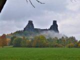 Bohemian Paradise - foggy ruins of castle Trosky